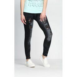 Spodnie damskie: Czarne Legginsy Spirit