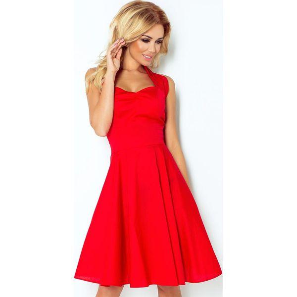 37da5061ec Federica Sukienka - CZERWONA - Z GUZIKAMI - Czerwone sukienki ...