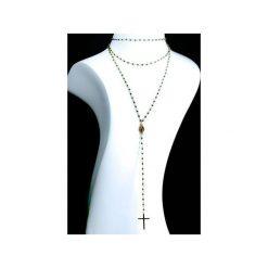 Naszyjniki damskie: Naszyjnik Spinel Metalizowany złoto różaniec