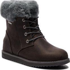 Śniegowce EMU AUSTRALIA - Shoreline Leather Lo W11588 Charcoal/Anthracite. Szare buty zimowe damskie marki EMU Australia, z nubiku. Za 859,00 zł.