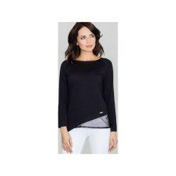 Bluzki asymetryczne: Bluzka K321 Czarny