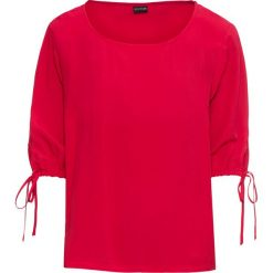 Bluzki damskie: Bluzka z dekoltem w łódkę bonprix czerwony