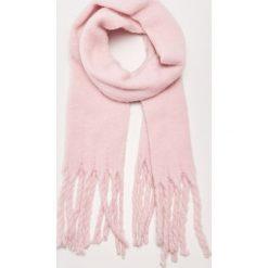 Gładki szal z frędzlami - Różowy. Czerwone szaliki damskie marki House. Za 49,99 zł.