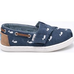 Toms - Tenisówki dziecięce Bimini. Szare buty sportowe dziewczęce Toms, z materiału. W wyprzedaży za 129,90 zł.