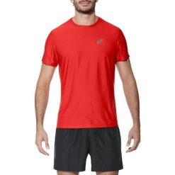 Asics Koszulka męska SS Top Asics Fiery Red r. S (1340840626). Czerwone koszulki sportowe męskie Asics, m. Za 62,05 zł.