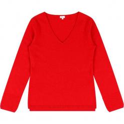 Sweter kaszmirowy w kolorze czerwonym. Czerwone swetry klasyczne damskie marki Ateliers de la Maille, z kaszmiru. W wyprzedaży za 363,95 zł.