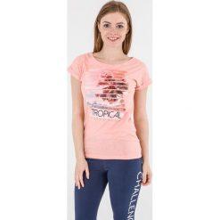 4f Koszulka damska koralowy pastelowy r. L (H4L17-TSD009). Pomarańczowe topy sportowe damskie marki 4f, l. Za 27,55 zł.