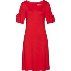 Sukienki: Sukienka shirtowa z nadrukiem bonprix czerwony