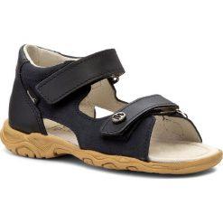 Sandały MRUGAŁA - Leo 1106-77 Blu. Niebieskie sandały męskie skórzane marki Mrugała. Za 139,00 zł.