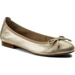 Baleriny CAPRICE - 9-22102-20 Beige Glitter 409. Żółte baleriny damskie marki Caprice, z materiału. W wyprzedaży za 179,00 zł.
