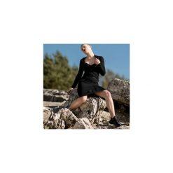 SUKIENKA MIDI ZIP BLACK. Czarne długie sukienki marki Rest_factory, l, z aplikacjami, z asymetrycznym kołnierzem, z długim rękawem, asymetryczne. Za 269,00 zł.