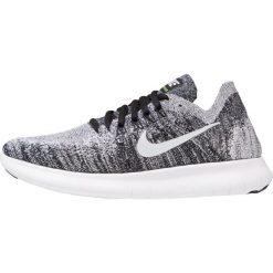 Buty do biegania damskie: Nike Performance FREE RUN FLYKNIT 2 Obuwie do biegania neutralne black/white/volt