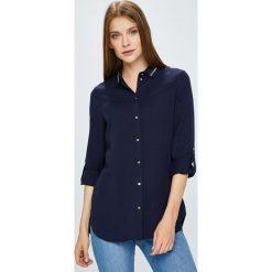 Guess Jeans - Koszula. Czarne koszule jeansowe damskie marki Guess Jeans, l, z aplikacjami, klasyczne, z klasycznym kołnierzykiem, z długim rękawem. W wyprzedaży za 449,90 zł.