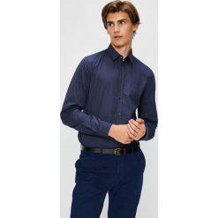 Trussardi Jeans - Koszula. Niebieskie koszule męskie jeansowe marki Trussardi Jeans, m, z klasycznym kołnierzykiem, z długim rękawem. W wyprzedaży za 299,90 zł.