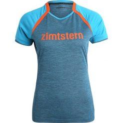 Topy sportowe damskie: Zimtstern BROOKZ  Tshirt z nadrukiem caribbean melange