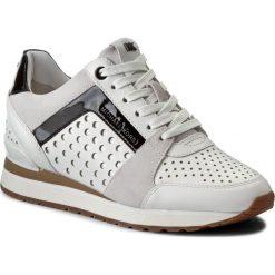 Sneakersy MICHAEL MICHAEL KORS - Bille 43R7BIFS1L  Optic White. Czarne sneakersy damskie marki MICHAEL Michael Kors, z gumy, przed kolano, na wysokim obcasie. W wyprzedaży za 609,00 zł.