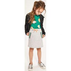 Spódnica dresowa - Jasny szar. Szare spódniczki dziewczęce Reserved, z dresówki. W wyprzedaży za 19,99 zł.
