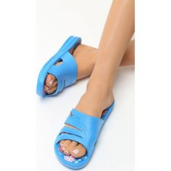 Klapki damskie: Niebieskie Klapki Wonderland