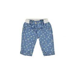 KANZ Girls Mini Spodnie dżinsowe FLOWERS light blue denim. Niebieskie spodnie chłopięce marki Kanz, z bawełny. Za 85,00 zł.