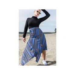 Blue graphic skirt. Szare spódnice wieczorowe marki Miss Sixty, m, z dzianiny, midi, asymetryczne. Za 219,00 zł.
