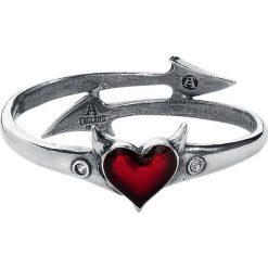 Bransoletki damskie na nogę: Alchemy Gothic Devil Heart Bangle Bransoletka - Mankiet standard