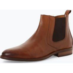 Buty zimowe męskie: Tommy Hilfiger - Skórzane botki męskie, beżowy