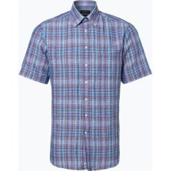 Nils Sundström - Męska koszula z dodatkiem lnu, niebieski. Niebieskie koszule męskie na spinki Nils Sundström, m, z klasycznym kołnierzykiem. Za 129,95 zł.