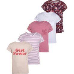 Next SHORT SLEEVE 5 PACK Tshirt z nadrukiem red. Czerwone t-shirty damskie Next, z nadrukiem, z bawełny. Za 169,00 zł.