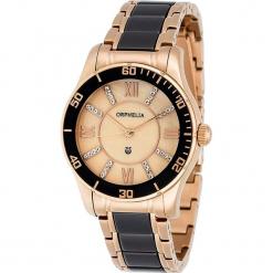 Zegarek kwarcowy w kolorze czarno-różowozłotym. Czarne, analogowe zegarki damskie Esprit Watches, ceramiczne. W wyprzedaży za 318,95 zł.