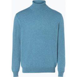 Golfy męskie: Andrew James – Sweter męski z czystego kaszmiru, biały