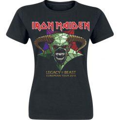 Iron Maiden LOTB 2018 Retail Tee Koszulka damska czarny. Czarne bluzki z odkrytymi ramionami Iron Maiden, m, z nadrukiem, z okrągłym kołnierzem. Za 79,90 zł.