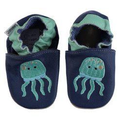 """Buciki niemowlęce chłopięce: Skórzane buty niemowlęce """"Qualle"""" w kolorze granatowym"""