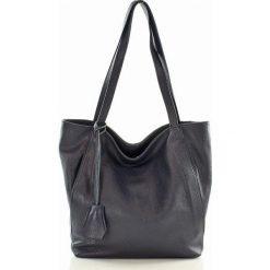 Shopper bag damskie: BETTE Shopper skórzany  MAZZINI granatowy