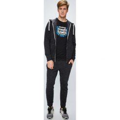 Reebok - Bluza Marble Group. Czarne bluzy męskie rozpinane Reebok, l, z bawełny, z kapturem. W wyprzedaży za 219,90 zł.