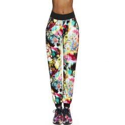 Spodnie damskie: Bas Black Damskie spodnie Glade biało-kolorowe r. M