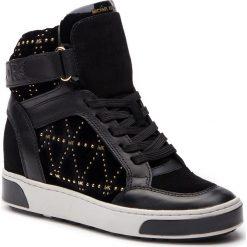 Sneakersy MICHAEL MICHAEL KORS - Pia High Top 43F8PAFE5D  Black. Czarne sneakersy damskie marki MICHAEL Michael Kors, z gumy, przed kolano, na wysokim obcasie. Za 1109,00 zł.