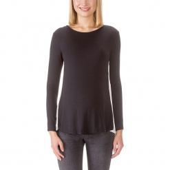 Koszulka ciążowa w kolorze czarno-białym. Czarne bluzki ciążowe bellybutton, xxl, z okrągłym kołnierzem, z długim rękawem. W wyprzedaży za 217,95 zł.