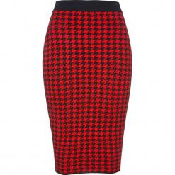 Spódnica dzianinowa bonprix czarno-czerwony sygnałowy. Białe spódnice wieczorowe marki QUIOSQUE, s, z haftami, z tkaniny, dopasowane. Za 74,99 zł.