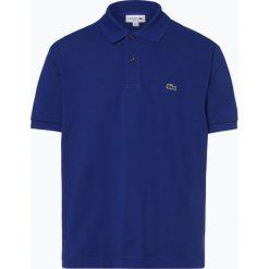Lacoste - Męska koszulka polo, niebieski. Niebieskie koszulki polo Lacoste, l, z aplikacjami, z bawełny. Za 379,95 zł.