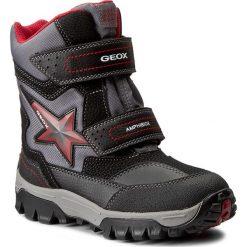 Buty zimowe chłopięce: Śniegowce GEOX – J Lt Himalaya B Abx A J74E5A 0FUCE C0048 Black/Red