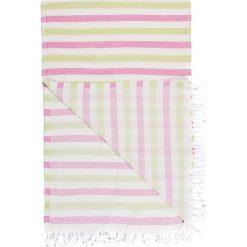 Chusta hammam w kolorze różowo-zielonym - 180 x 100 cm. Czarne chusty damskie marki Hamamtowels, z bawełny. W wyprzedaży za 43,95 zł.