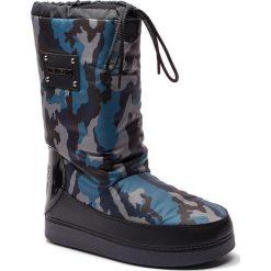 Śniegowce LOVE MOSCHINO - JA24072G06JN0750 St.Camoufl/Blu. Niebieskie buty zimowe damskie Love Moschino, z materiału. Za 659,00 zł.