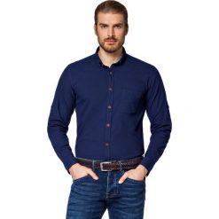 Koszula Jeansowa Granatowa Kenwood. Brązowe koszule męskie jeansowe LANCERTO, m, z kontrastowym kołnierzykiem. W wyprzedaży za 199,90 zł.
