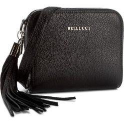 Torebka BELLUCCI - R-264 Czarny. Czarne listonoszki damskie Bellucci, ze skóry, na ramię. Za 219,00 zł.