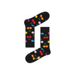 Skarpetki Happy Socks - Vitamins (CHE01-9002). Szare skarpetki męskie Happy Socks, w kolorowe wzory, z bawełny. Za 34,90 zł.