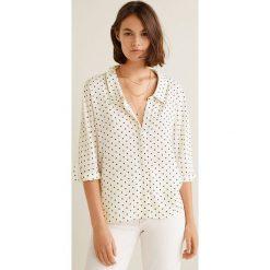 Mango - Koszula Amelia. Szare koszule wiązane damskie Mango, l, z materiału, z krótkim rękawem. Za 119,90 zł.