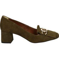 Czółenka - 2646 CAM VER9. Brązowe buty ślubne damskie Venezia, ze skóry. Za 199,00 zł.