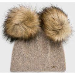 Starling - Czapka. Szare czapki damskie Starling, na zimę, z dzianiny. W wyprzedaży za 99,90 zł.