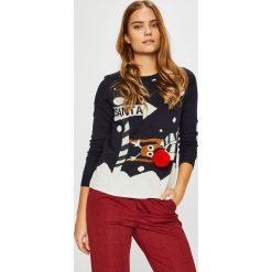 Only - Sweter. Brązowe swetry klasyczne damskie ONLY, m, z dzianiny, z okrągłym kołnierzem. Za 89,90 zł.
