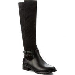 Oficerki JENNY FAIRY - WS1257-6 Czarny. Czarne buty zimowe damskie marki Jenny Fairy, z materiału, na obcasie. Za 139,99 zł.